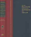 The New Palgrave Dictionary of Economics and the Law PDF