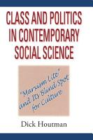Class and Politics in Contemporary Social Science PDF