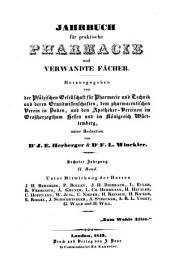 Jahrbuch für practische Pharmacie und verwandte Fächer: Zeitschr. d. Allgemeinen Teutschen Apotheker-Vereins, Abtheilung Süddeutschland, Band 7