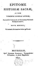 Epitome historiae sacrae, ad usum tyronum linguae latinae