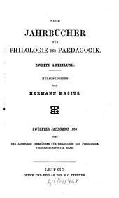 Neue Jahrbücher für Philologie und Pädagogik: Band 94