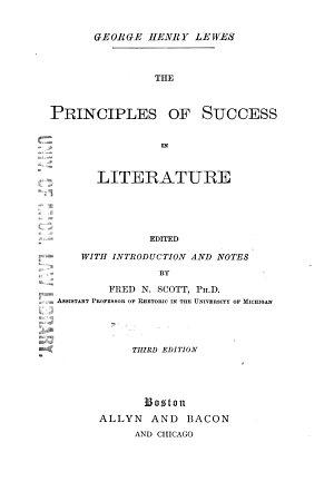 The Principles of Success in Literature PDF