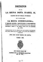 Decretos de la Reina Nuestra Señora Doña Isabel II: Volume 21