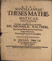Miscellaneae theses mathematicae