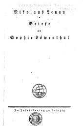 Briefe an Sophie Lamenthal