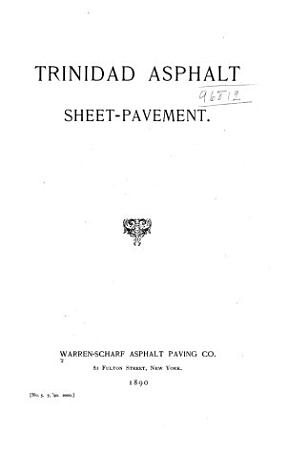 Trinidad Asphalt Sheet pavement PDF
