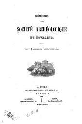 Mémoires de la Société archéologique de Touraine: Volumes10à11