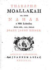 Tarafae Moallakah cum scholiis Nahas