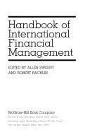 Handbook of International Financial Management