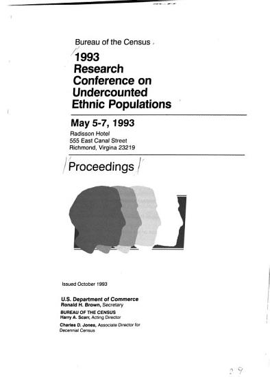 1993 Research Conference on Undercounted Ethnic Populations PDF