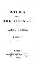 Istoria della Italia occidentale: Volume 4