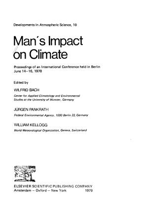 Man s Impact on Climate PDF