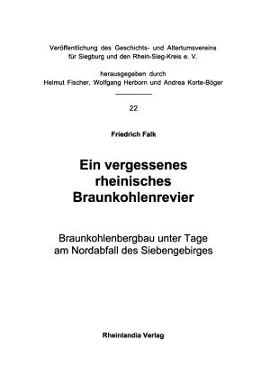 Ein vergessenes rheinisches Braunkohlenrevier PDF