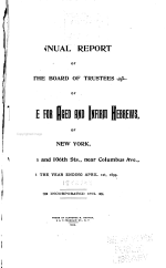 Annual Report of the Board of Trustees of the Home for Aged and Infirm Hebrews