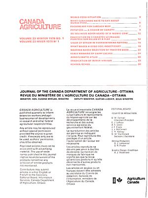 Canada Agriculture