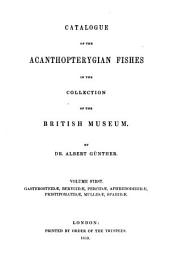Catalogue of the Physostomi ... in the Collection of the British Museum