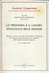 La preghiera e il lavoro apostolico nelle missioni