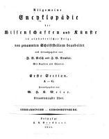 Allgemeine encyklop  die der wissenschaften und k  nste PDF