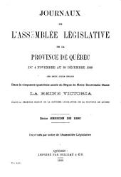 Journaux de l'Assemblee Legislative: Volume 25