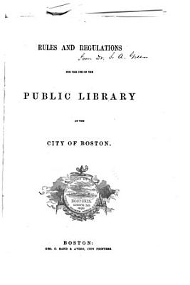 Index to the Catalogue of a Portion of the Public Library of the City of Boston PDF