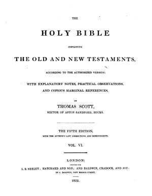The Holy Bible  with Explanatory Notes  Practical Observations and Copious Marginal References PDF