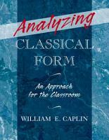 Analyzing Classical Form PDF