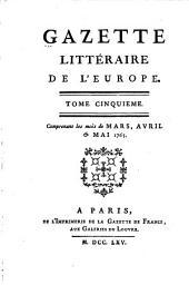 Gazette littéraire de l'Europe: Volume5