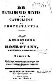 De matrimoniis mixtis inter catholicos et protestantes