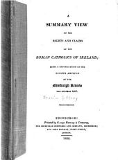 A Summary View of the Rights and Claims of the Roman Catholics of Ireland