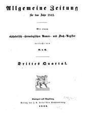 Allgemeine Zeitung München: 1843, 7 - 12
