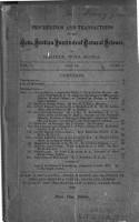 Proceedings of the Nova Scotian Institute of Science PDF