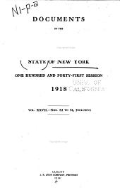 Documents of the Assembly of the State of New York: Volume 27