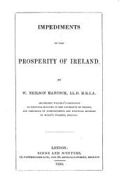 Impediments to the Prosperity of Ireland
