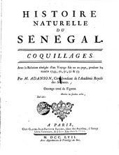 Histoire naturelle du Senegal. Coquillages