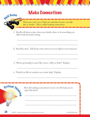 Read   Succeed Comprehension Level 4  Making Connections Passages and Questions