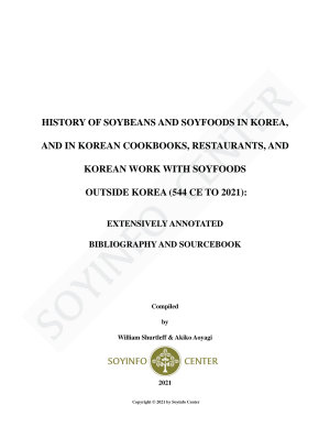 History of Soybeans and Soyfoods in Korea  544 CE to 2021