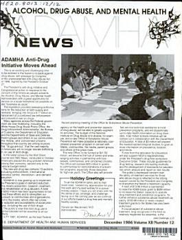 ADAMHA News on Alcohol  Drug Abuse  and Mental Health PDF
