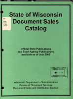 State of Wisconsin Document Sales Catalog PDF