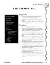 Environmental Print & Building Vocabulary: If You Can Read This . . .