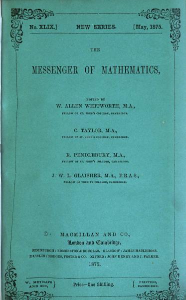 Download The Messenger of Mathematics Book
