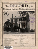 Download The Record of Hampden Sydney College Book