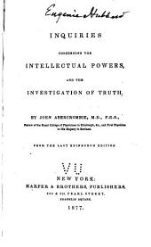 Inquiries Concerning the Intellectual Powers, and the Investigation of Truth
