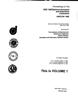 Proceedings of the IEEE 1982 National Aerospace and Electronics Conference  NAECON 1982 PDF