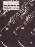 40 Studies for Clarinet  Book 1 PDF