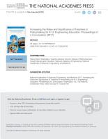 Increasing the Roles and Significance of Teachers in Policymaking for K 12 Engineering Education PDF