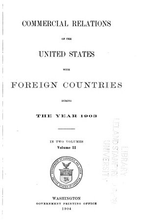 Commercial Relations of the United States  1903