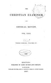The Christian Examiner: Volume 22