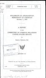 Stalemate in Afghanistan, Democracy in Pakistan, October 1, 1989
