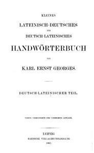 Kleines lateinisch deutsches und deutsch lateinisches Handw  rterbuch PDF