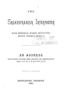 The Shakespearean Interpreter PDF